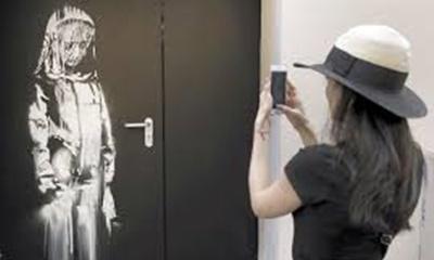 Banksyの作品盗まれる