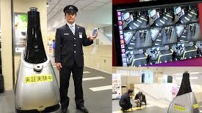 AI 警備ロボ東京の駅で実証実験