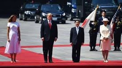 トランプ米大統領、令和初の国賓として来日