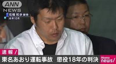東名あおり運転事故 懲役18年の判決
