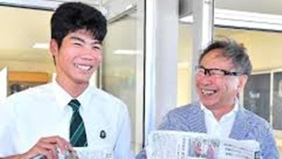 沖縄の高校生見知らぬ恩人と再会
