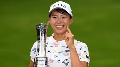 渋野、ゴルフ全英女子オープンで優勝