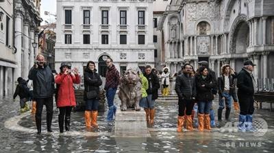 ベネチアで記録的な高潮被害