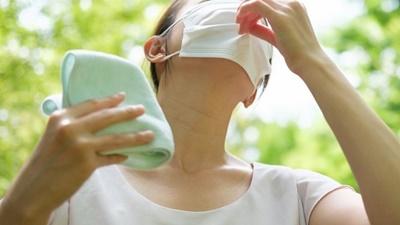 マスク着用で熱中症リスク高まる