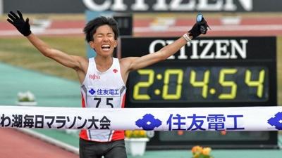 琵琶湖マラソンで日本最高記録