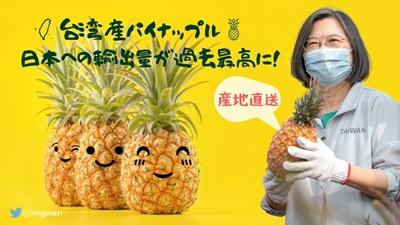 台湾産パイナップル、日本へ